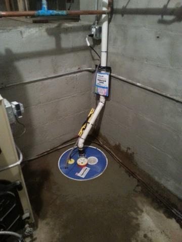 Sump Pump installation in CT