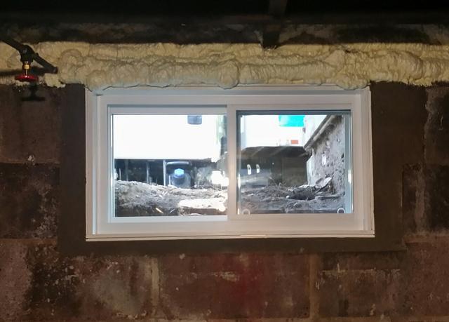 Rim Joist Insulation and Everlast Windows in Windsor, CT