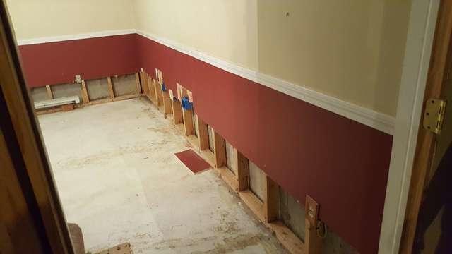 Half Wall Restoration in Wallingford, CT