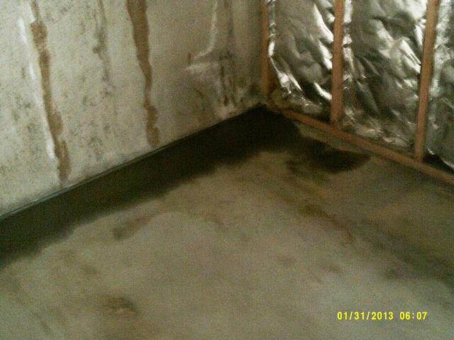 Basement waterproofing before finishing in Oakville.