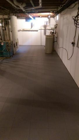 Basement Waterproofing Job in Newtown, CT
