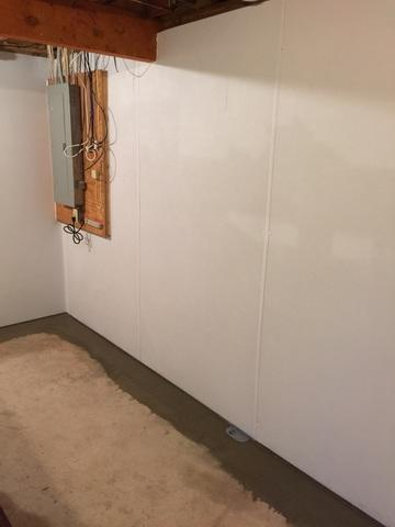 Basement in Farmington one step closer to finished.