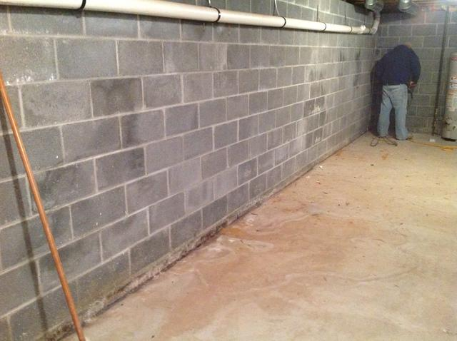 Blairstown NJ Basement Waterproofed - Before Photo