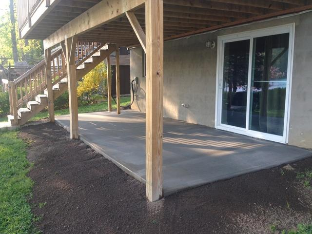 Laying a Patio for a Homeowner in Vernon NJ