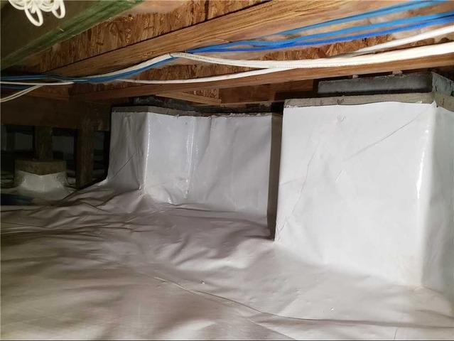 Crawlspace encapsulation in Calistoga, CA