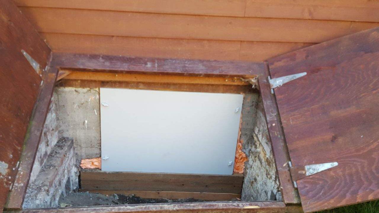 Everlast Crawlspace Access Door - After Photo