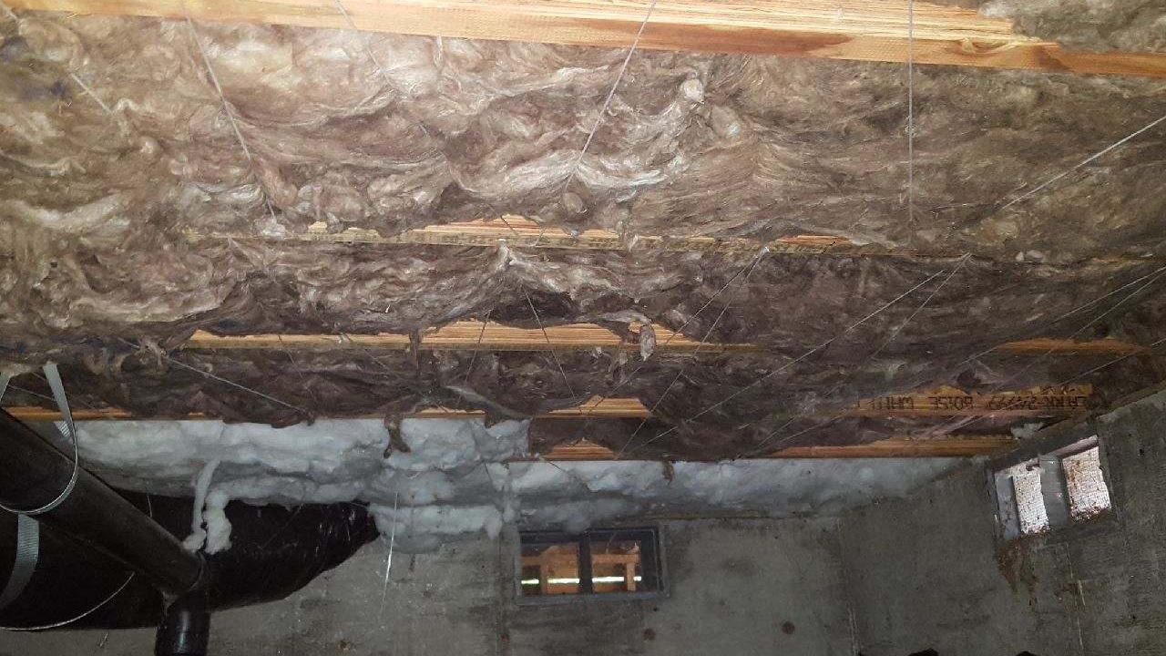 Insulation install in a Crawlspace - After Photo