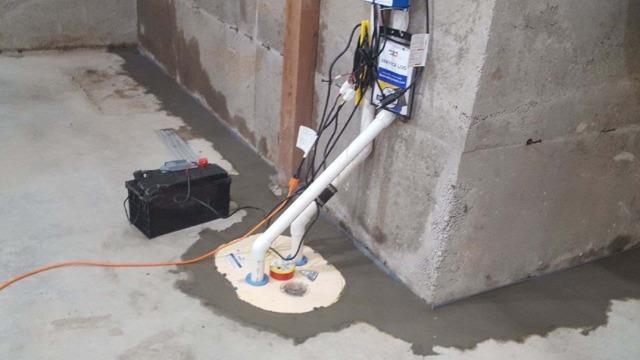 Basement Pump Install