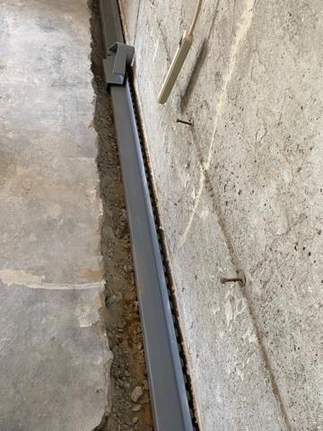 An amazing Basement Drainage Job