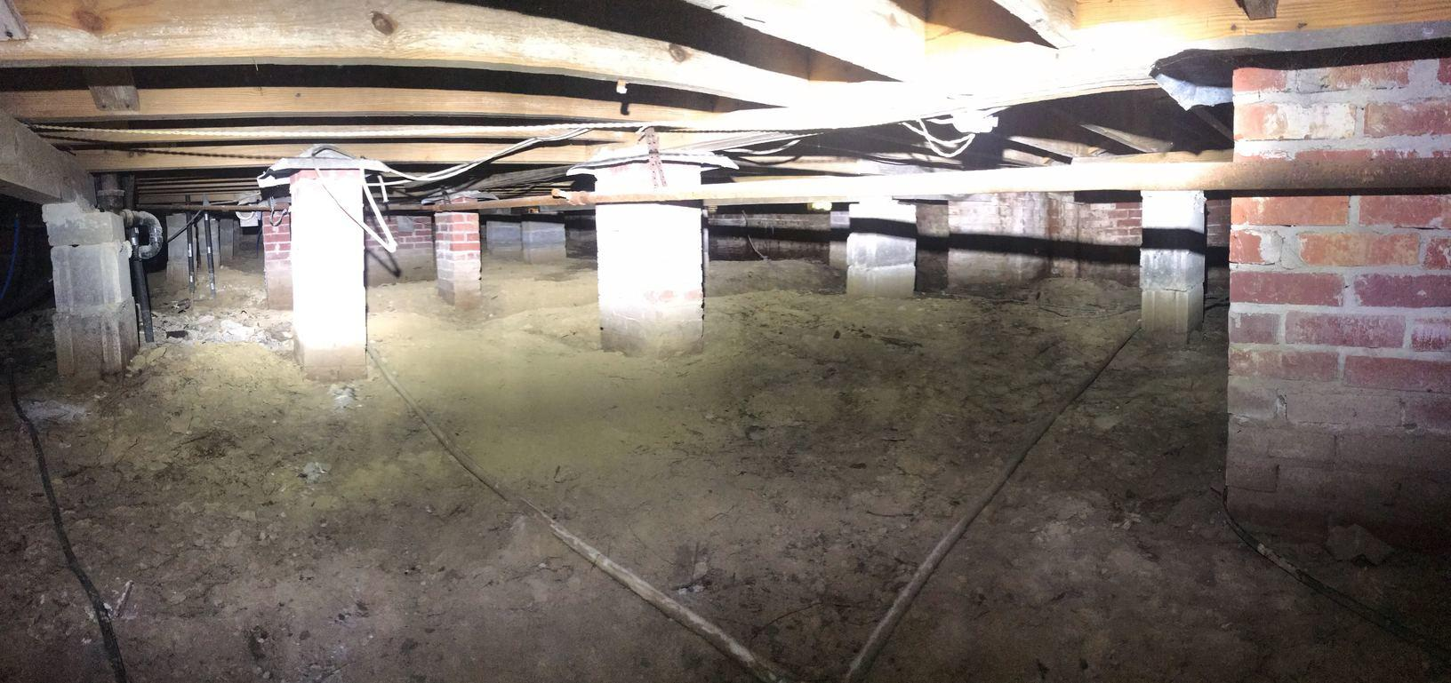 Crawlspace Moisture Control in Jackson, MS - Before Photo