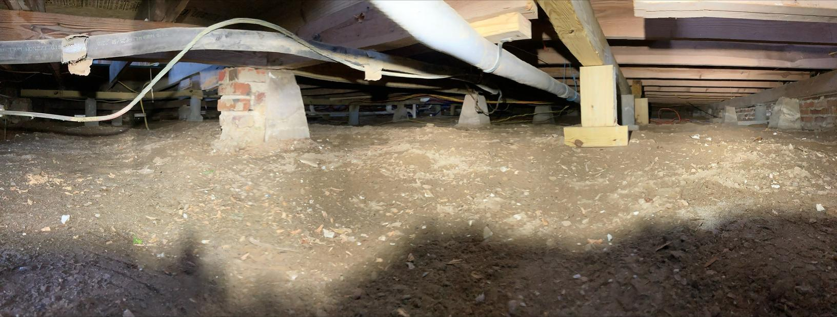 Crawl Space Waterproofing in Ruston, LA - Before Photo