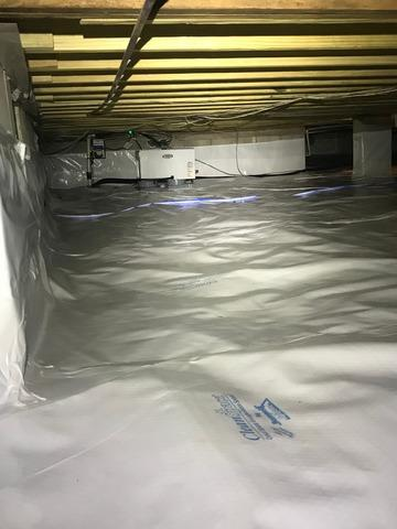 Crawlspace Waterproofing in Columbus, Mississippi - After Photo