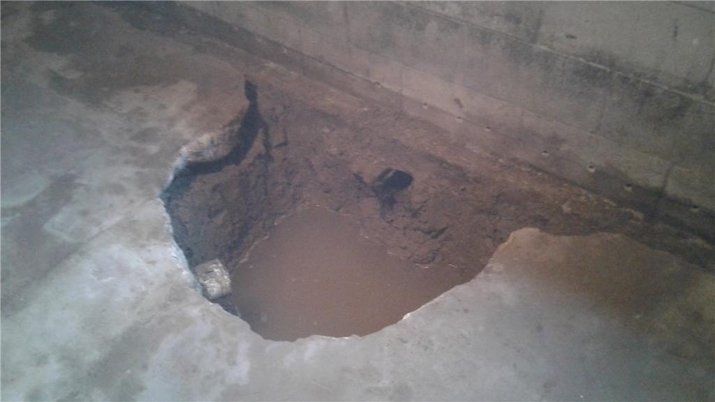 Sump Pump Installation in Albert Lea, MN - Before Photo