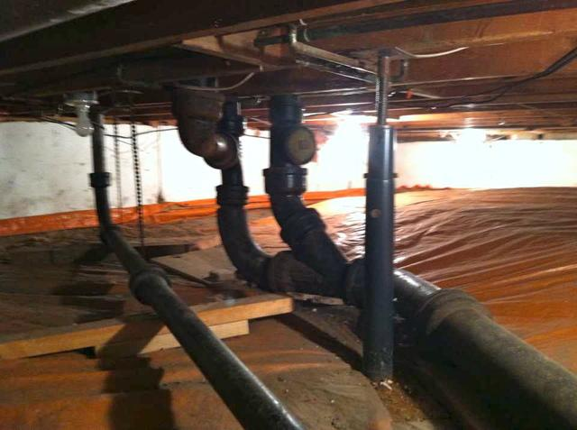 Waterproofing a Crawl Space in Rochester, MN - Before Photo