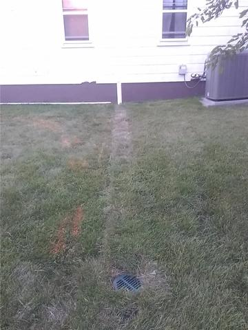 Sump Pump Discharge Line Worthington, MN - After Photo
