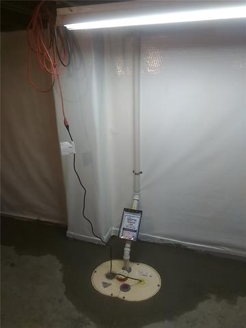 TripleSafe Sump Pump System Installed in Worthington, MN - After Photo