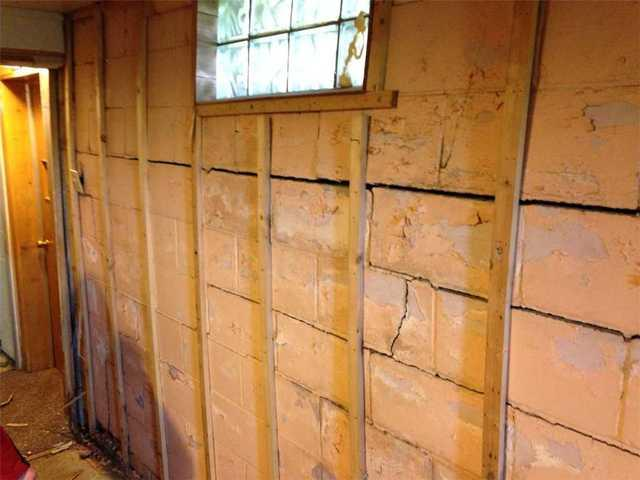 Cracked and Buckling Foundation Wall Stabilized in Hardwick, MN