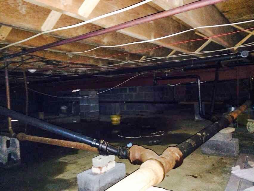 Waterproofing in West Grove, PA - Before Photo