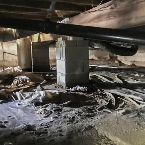 Humid Crawl Space Fixed Using CleanSpace In South Seaville, NJ