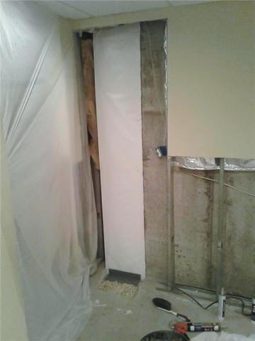 Leaky Basement Wall Repaired In Egg Harbor Township, NJ