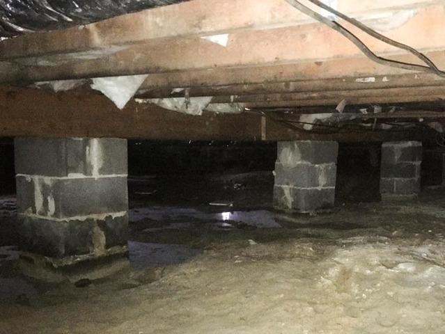 Damp Crawl Space Repaired in Paulsboro, PA