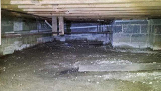 Wet Crawl Space Made Dry in Swarthmore, PA