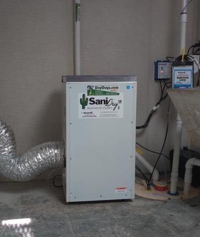Installing SaniDry XP Upright Dehumidifier in Medford, NJ