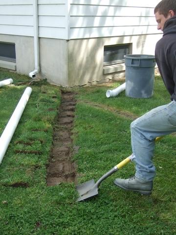 Discharge Line & LawnScape in Thorofare, NJ