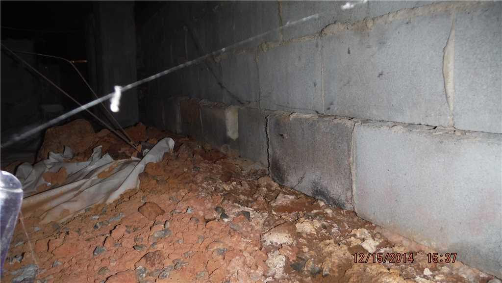 Waterproofing a Crawl Space in Taylorsville, NC - Before Photo