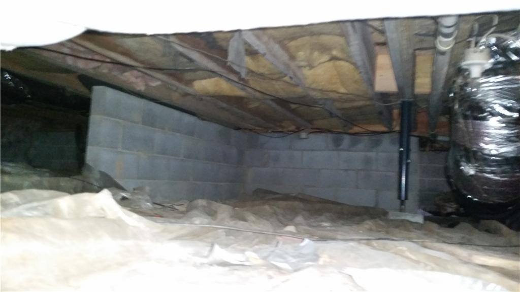 Structural Repair and Dehumidification in Woodleaf, NC - Before Photo