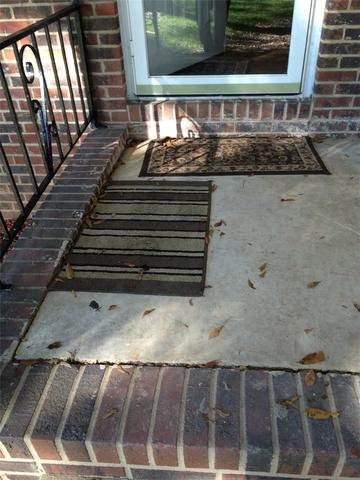 Porch Patio Concrete Settling Repair in Dallas, NC