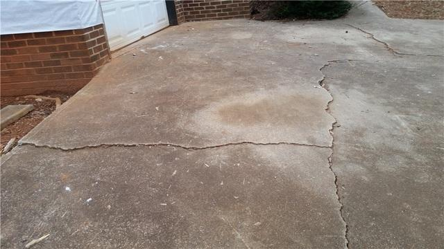 Cracked and Uneven Concrete Driveway in Gastonia,  NC