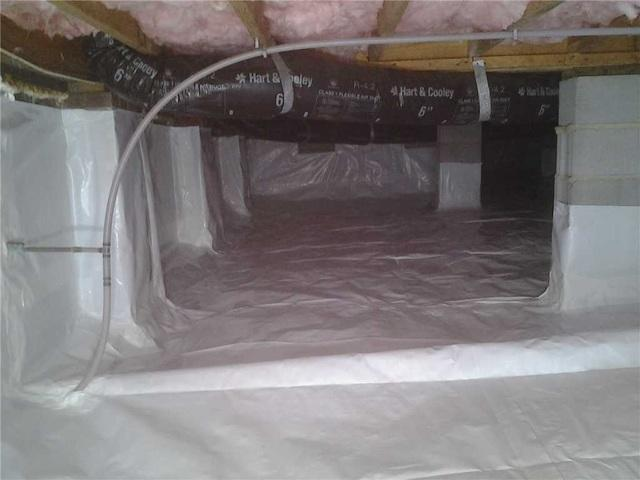 Mount Pleasant, NC Crawl Space is Repaired