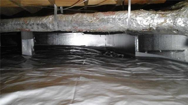 Crawl Space Drainage System Installed in Salisbury, NC - After Photo