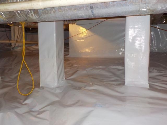 Crawl space waterproofing in Jackson, TN.