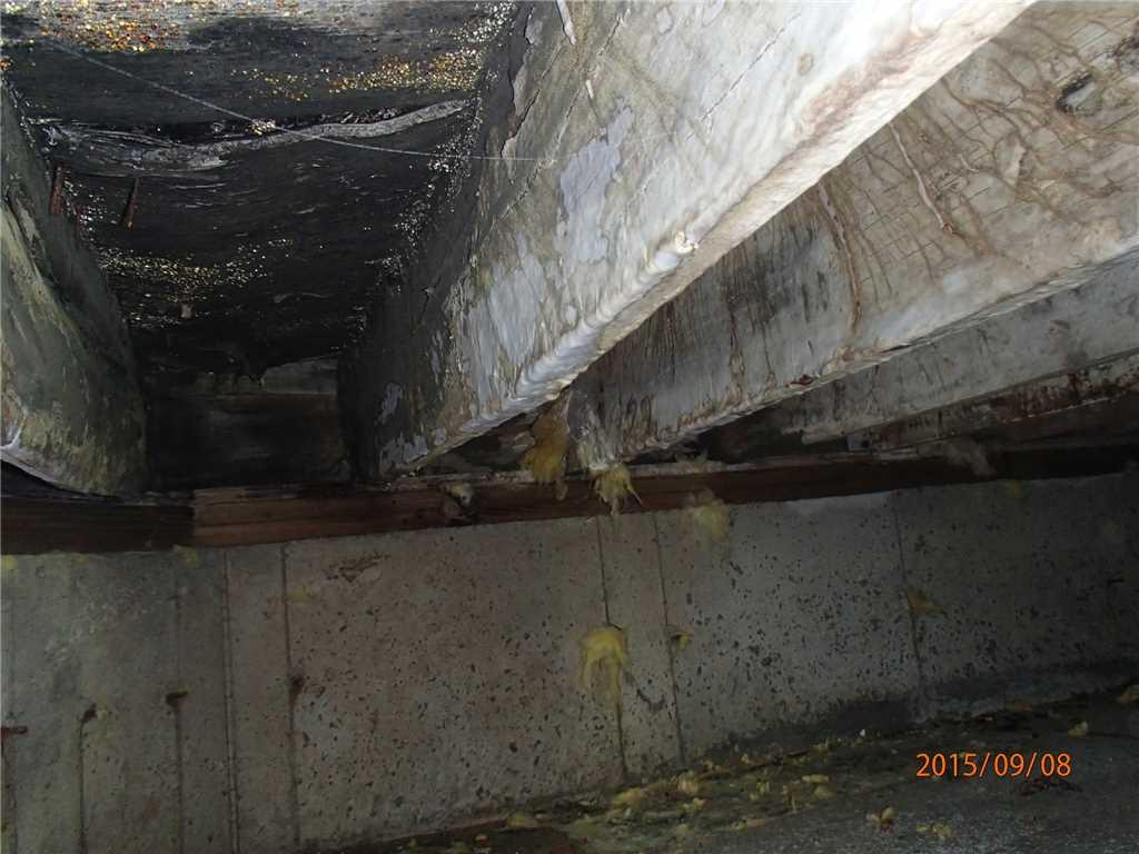 Rotted Floor Joists Replaced in Merrick, NY - Before Photo