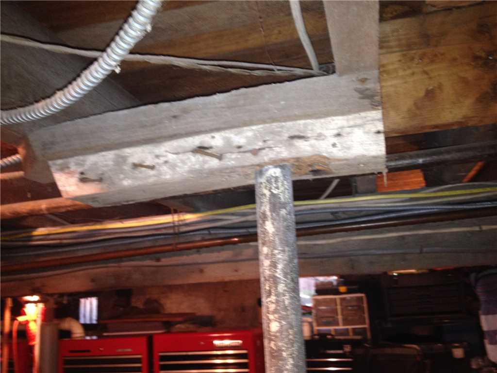 Support Beam Installed for a Sea Cliff, NY Basement - Before Photo