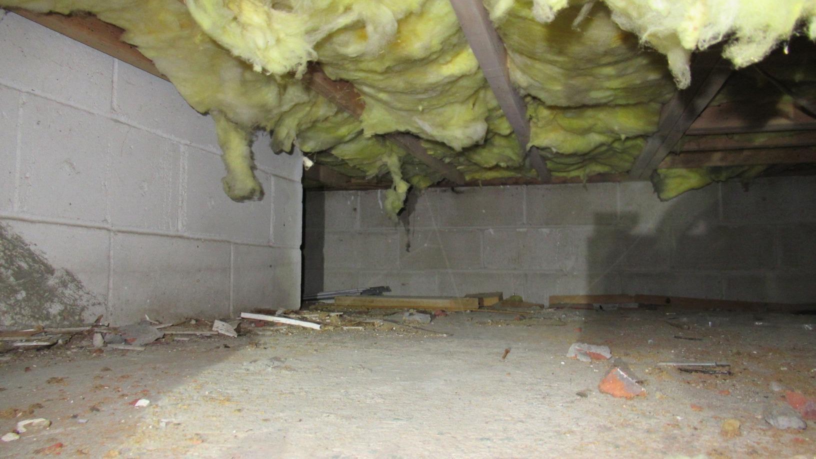 Lynbrook, NY Crawl Space Encapsulation - Before Photo