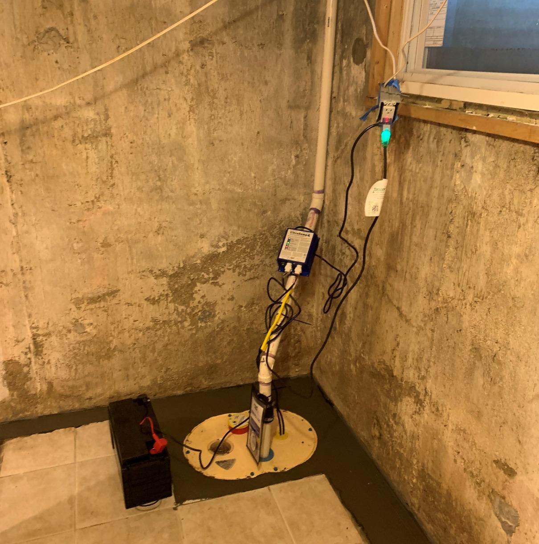 Rockville Centre Basement Waterproofing - After Photo