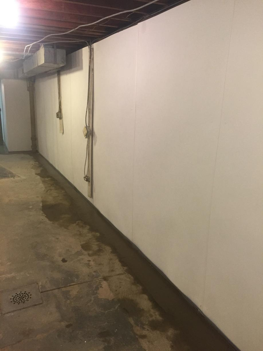 BrightWall Installed in Manhasset, NY Basement - After Photo