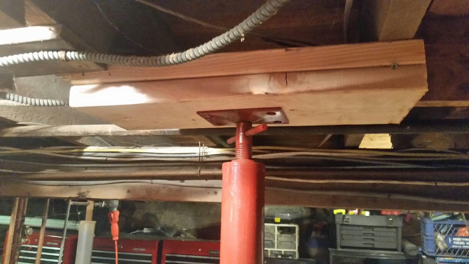 Support Beam Installed for a Sea Cliff, NY Basement - After Photo