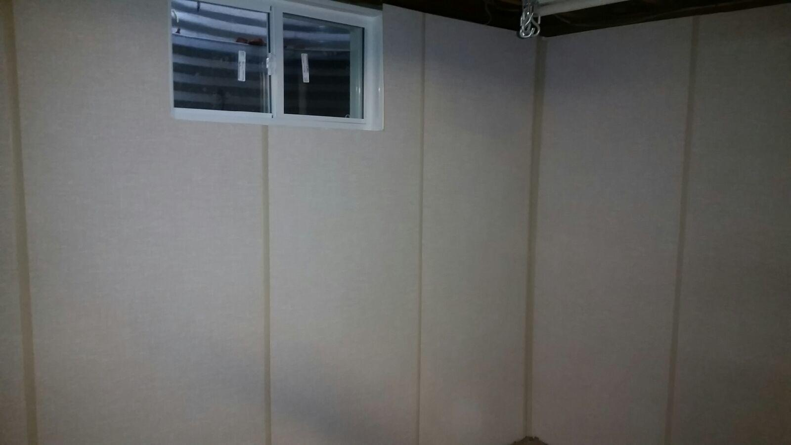 ZenWall Wall Panels Installed in Melville, NY Basement - After Photo