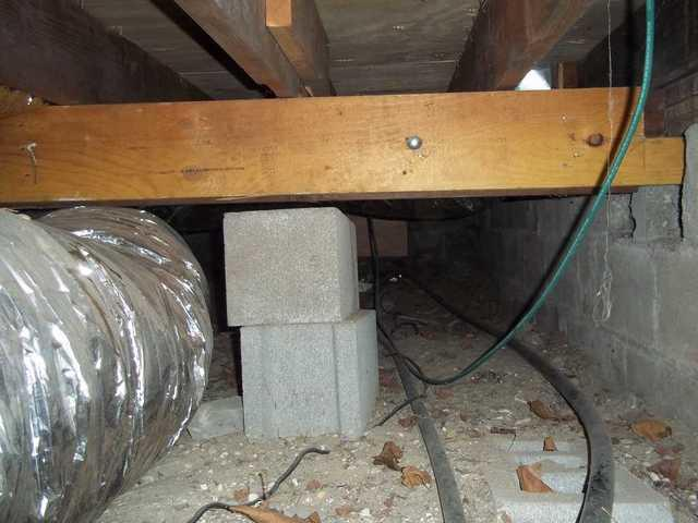 Crawl Space Encapsulation in Atlantic Beach, NY - Before Photo