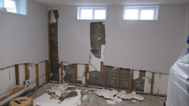 Patchogue Finished Basement Ruined