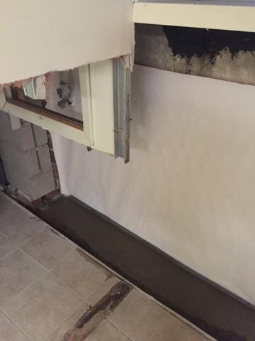 Waterproofing one wall in Great Neck
