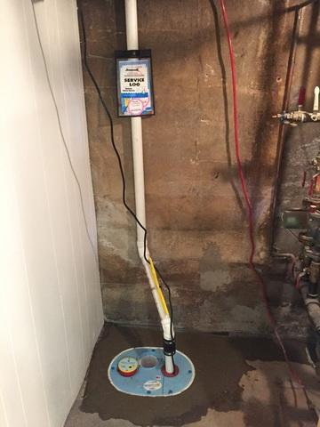 Brightwaters, NY - Sump Pump Installed in High Water Table Area