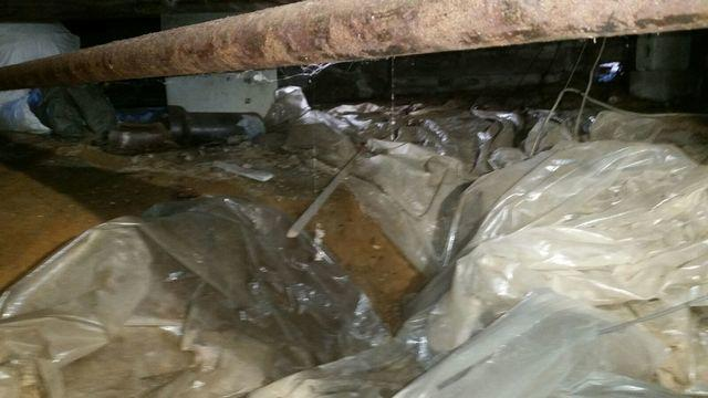 6mil Liner Replaced in Bohemia, NY Crawlspace