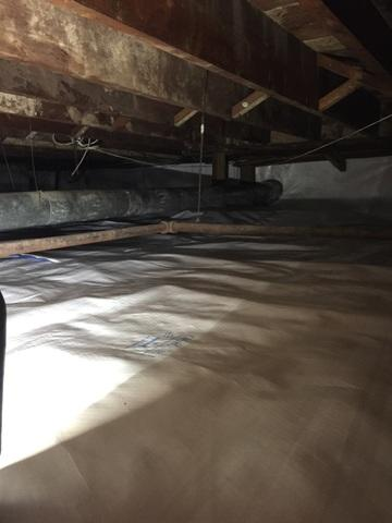 Encapsulating a Crawlspace in Sayville, NY