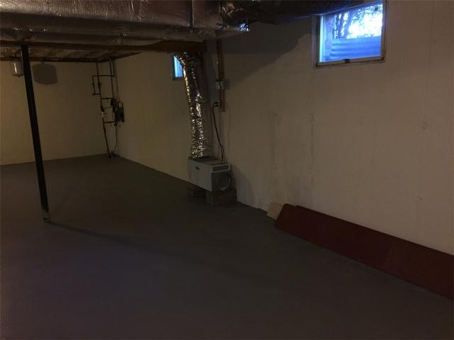 Southold, NY Basement is Permanently Waterproofed