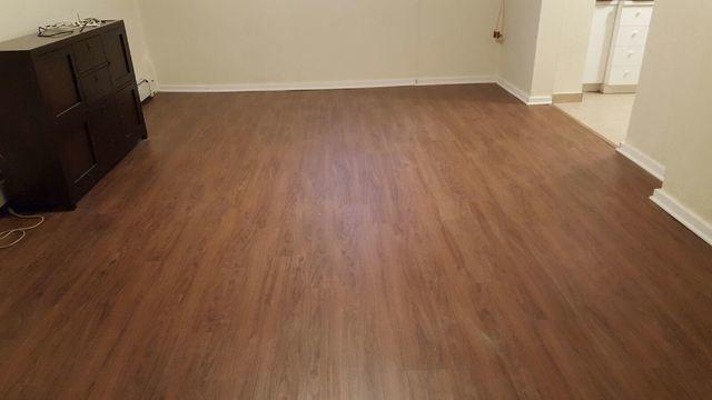 New Basement MillCreek Flooring in Oyster Bay Home